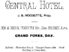 Central Hotel Advertisement