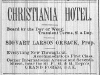 Christiana Hotel Advertisement