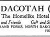 Dacotah Hotel 2 Advertisement