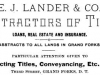 Edward J. Lander Advertisement