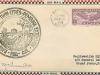 First Air Mail Cachet Front View, Pembina, Signed by Postmaster