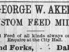 George Aker Advertisement