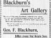 George F. Blackburn Advertisement