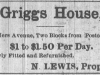 Griggs House Advertisement