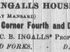 Ingalls House Advertisement