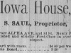 Iowa House Advertisement