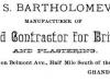 John S. Bartholomew Advertisement