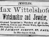 Max Wittelshofer Advertisement