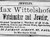 Max Wittelshofer Advertisement