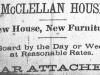 McClellan House Advertisement