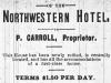 Northwestern Hotel Advertisement