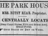 Park House Advertisement