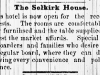 Selkirk House Advertisement