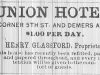 Union House Advertisement
