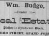 William Budge Advertisement