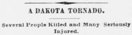 Fort Worth Newspaper Headline, June 18, 1887