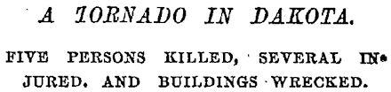 New York Times Newspaper Headline, June 18, 1887