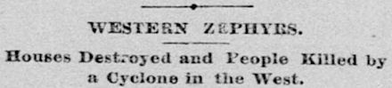 Sacramento Newspaper Headline, June 18, 1887