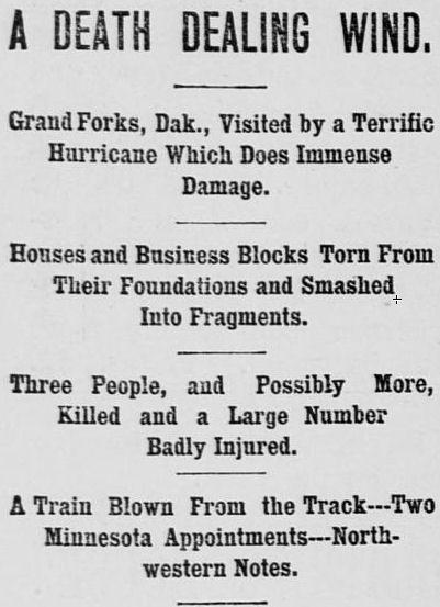 Saint Paul Newspaper Headline, June 17, 1887